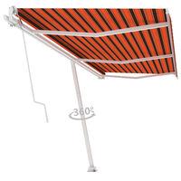 vidaXL Volně stojící automatická markýza 600 x 300 cm oranžovo-hnědá