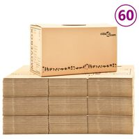 vidaXL Kartónové krabice na stěhování XXL 60 ks 60 x 33 x 34 cm