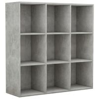 vidaXL Knihovna betonově šedá 98 x 30 x 98 cm dřevotříska