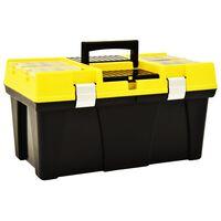 vidaXL Box na nářadí plast 595 x 337 x 316 mm žlutý