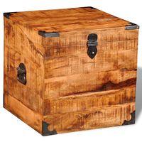 vidaXL Úložná truhla kostka hrubé mangovníkové dřevo