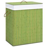 vidaXL Bambusový koš na prádlo zelený 83 l