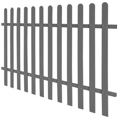 vidaXL Laťkový plot WPC 200 x 120 cm