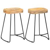 vidaXL Barové stoličky Gavin 2 ks masivní mangovníkové dřevo