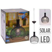 ProGarden Zahradní LED solární lampa kovová 18,5 cm