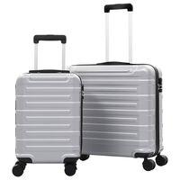 vidaXL Sada skořepinových kufrů na kolečkách 2 ks stříbrná ABS