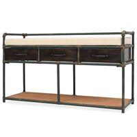 vidaXL Úložná lavice se sedákem 107,5 x 34,5 x 59 cm