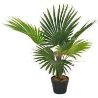 vidaXL Umělá rostlina palma s květináčem zelená 70 cm