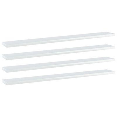 vidaXL Přídavné police 4 ks bílé vysoký lesk 80x10x1,5 cm dřevotříska