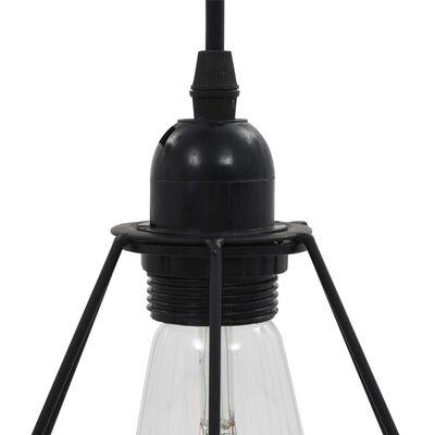 vidaXL Stropní svítidlo s diamantovým designem černé 3 x žárovky E27