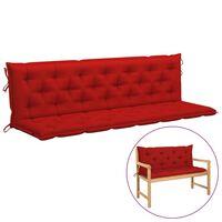 vidaXL Poduška pro závěsné houpací křeslo červená 200 cm textil