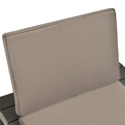 vidaXL 5dílná zahradní sedací souprava plast antracitová , Anthracite