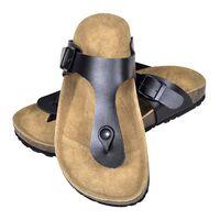vidaXL Dámské bio korkové sandály design žabky černé velikost 39
