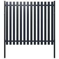 vidaXL Fence Panel Anthracite 174,5x170 cm Powder-coated Steel