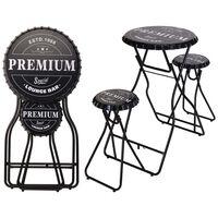 Ambiance Skládací barový stůl se stoličkami černý