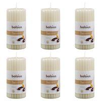 Bolsius Žebrované ovoněné svíčky 6 ks 120 x 58 mm vanilkové