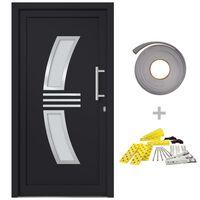 vidaXL Vchodové dveře antracitové 98 x 200 cm
