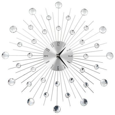 vidaXL Nástěnné hodiny se strojkem Quartz 50 cm moderní design