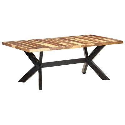 vidaXL Jídelní stůl 200 x 100 x 75 cm masivní dřevo sheeshamový vzhled