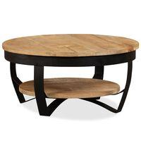 vidaXL Konferenční stolek hrubé mangovníkové dřevo 65 x 32 cm