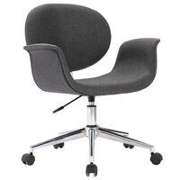 vidaXL Otočná kancelářská židle šedá textil