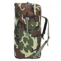 vidaXL Sportovní taška v army stylu 85 l maskáčová