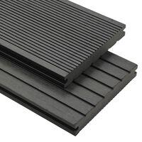vidaXL WPC plná terasová prkna a příslušenství 10 m² 2,2 m šedá