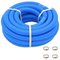 vidaXL Bazénová hadice se svorkami modrá 38 mm 12 m