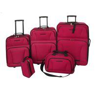 vidaXL Pětidílný set cestovních kufrů červený