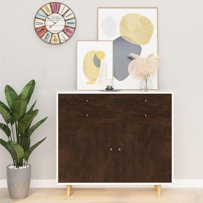 vidaXL Samolepící tapeta na nábytek tmavý dub 500 x 90 cm PVC
