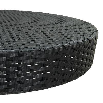 vidaXL Zahradní stůl černý 75,5 x 106 cm polyratan