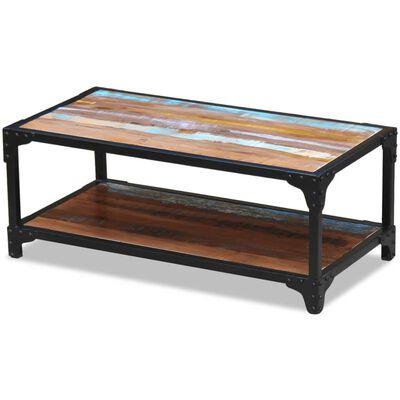 vidaXL Konferenční stolek masivní recyklované dřevo