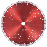 vidaXL Diamantový řezací kotouč turbo s otvory ocel 300 mm