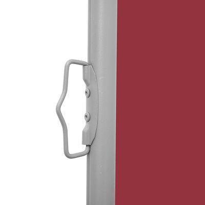 vidaXL Zatahovací boční markýza / zástěna červená 140 x 1000 cm