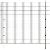 vidaXL 2D zahradní plotové dílce a sloupky 2008x2030 mm 16 m stříbrné
