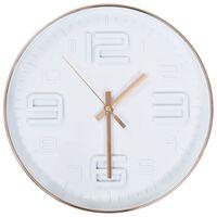 vidaXL Nástěnné hodiny s měděným vzhledem 30 cm