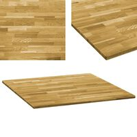 vidaXL Stolní deska z masivního dubového dřeva čtvercová 23mm 80x80 cm