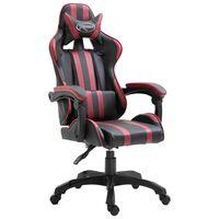 vidaXL Herní židle vínová umělá kůže
