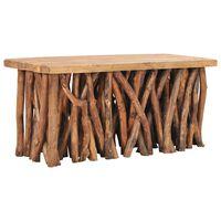 vidaXL Konferenční stolek 100x40x40,7 masivní recyklované dřevo a teak