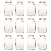 vidaXL Zavařovací sklenice s pákovým uzávěrem 12 ks 5 l