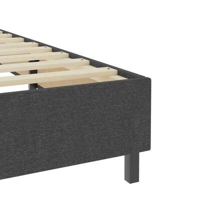 vidaXL Rám postele šedý textil 200 x 200 cm
