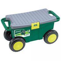 Draper Tools Zahradní úložný vozík sedátko 56x27,2x30,4cm zelený 60852