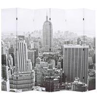 vidaXL Skládací paraván 228 x 170 cm New York by Day černobílý