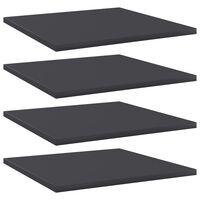 vidaXL Přídavné police 4 ks šedé 40 x 40 x 1,5 cm dřevotříska