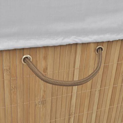 vidaXL Bambusový koš na prádlo obdélníkový přírodní odstín