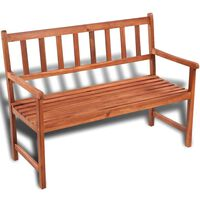 vidaXL Zahradní lavice 120 cm masivní akáciové dřevo