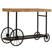 vidaXL Konzolový stolek masivní mangovník 115 x 36 x 76 cm