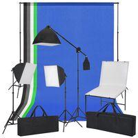 vidaXL Studiové vybavení set s produktovým stolem, světly a pozadími