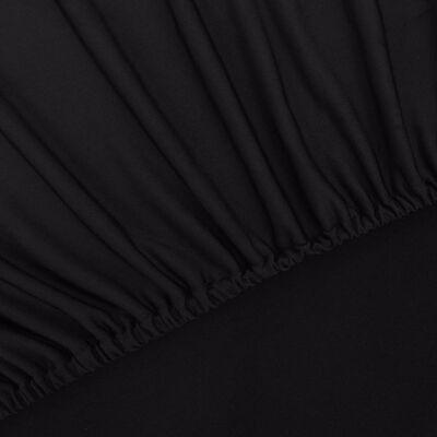 vidaXL Strečový potah na křeslo, černý polyesterový žerzej, Black