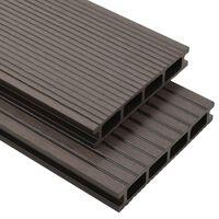vidaXL WPC dutá terasová prkna a příslušenství 16 m² 2,2 m tmavá hněď